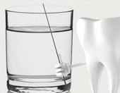 fluoridated water for strong teeth